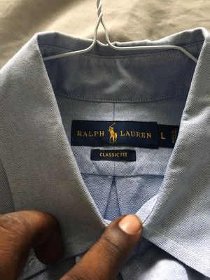 Polo Button Up Light Blue (L) for Sale in Houston, TX