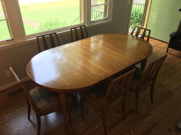 Drexel Eastrend Midcentury Modern Dining Set Incl 6 Chairs Table