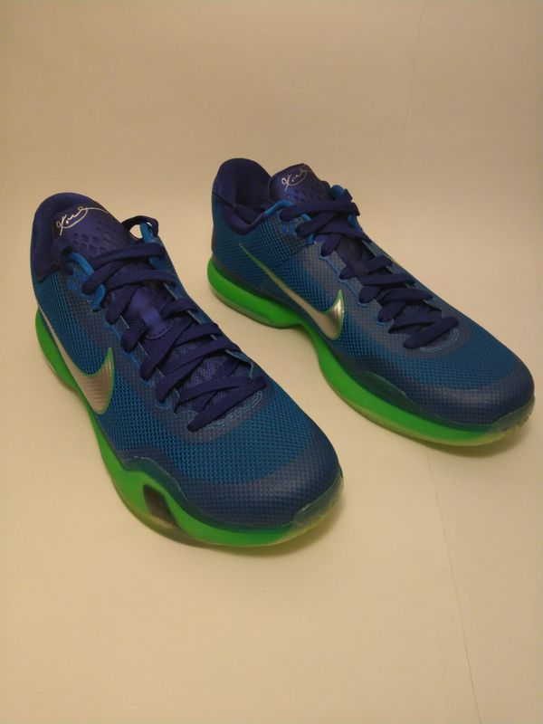 online retailer 12f26 cba84 Sz 12 Nike Kobe X 10 Low Emerald City Blue Green Seahawks 705317-402