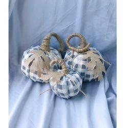 Handmade Sweater Ribbon Pumpkins Fall Halloween Decorations Custom Orders Thumbnail
