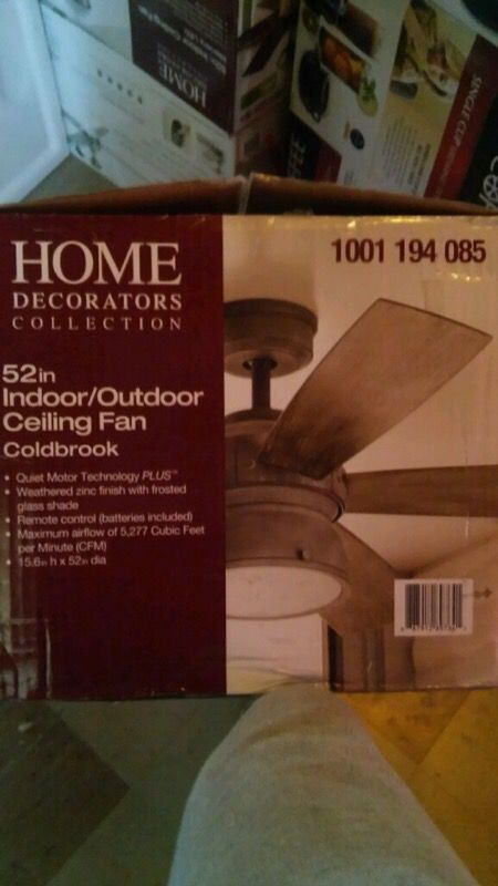 Home Decorators Collection 52 In Indoor Outdoor Weathered Gray Ceiling Fan For Sale In Anderson In Offerup