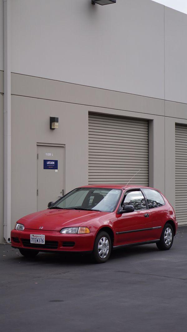 1992 honda civic dx hatchback manual
