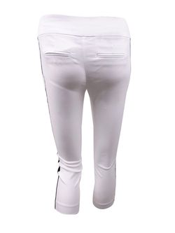 INC International Concepts Women's Plus Side-Stripe Skinny Pants (24W, White) Thumbnail