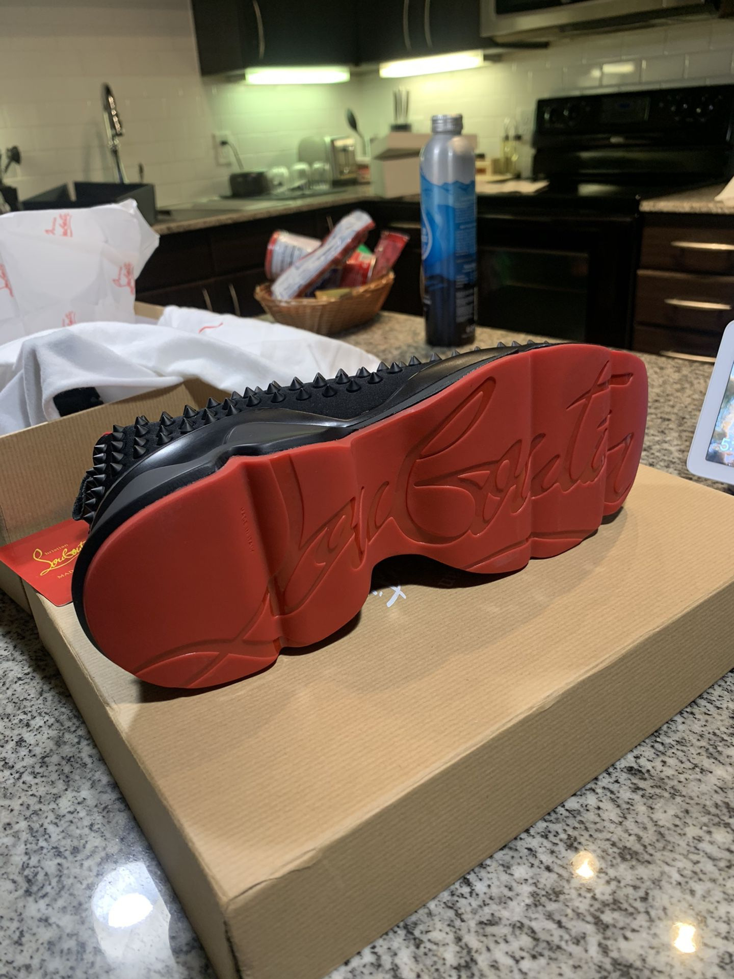 Christian Louboutin Authentic Spike Sneakers