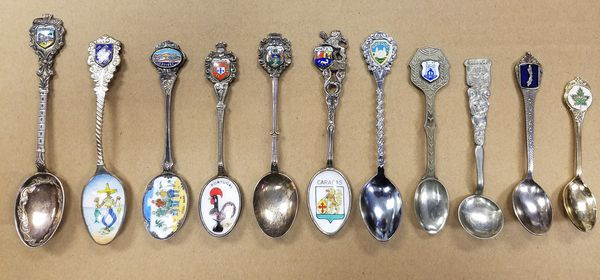 Unique Antique Set Of 11 Collectible Spoons All Sizes And Colors