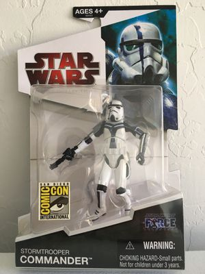 ($5) NEW Star Wars Legacy Collection Figure/ Toy (Stormtrooper Commander) The Force Unleashed, San Diego Comic Con Exclusive SDCC, Hasbro © for Sale in Phoenix, AZ