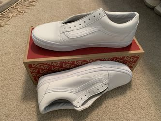 Vans White Leather Lows Thumbnail