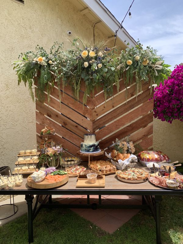 R E N T only  Wooden wall pallet style party backdrop for Sale in Covina,  CA - OfferUp