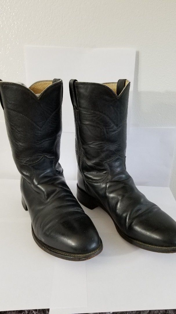 Cowboy Boots, Leather Boots, Black Boots
