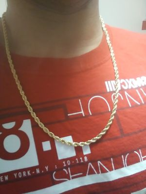 Photo 22 Rope Chain 10k Real Gold