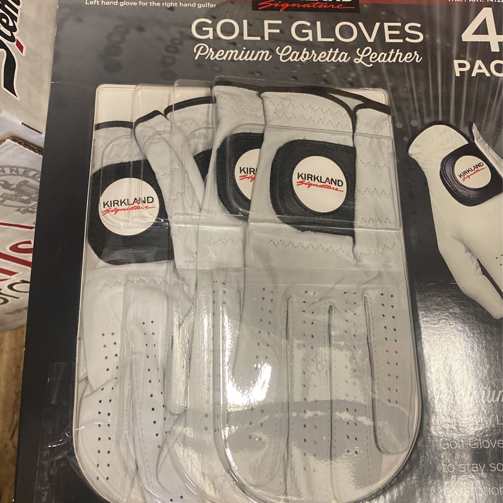 Golf Gloves - 4 Pack (small, Medium And Medium/Large Sizes)