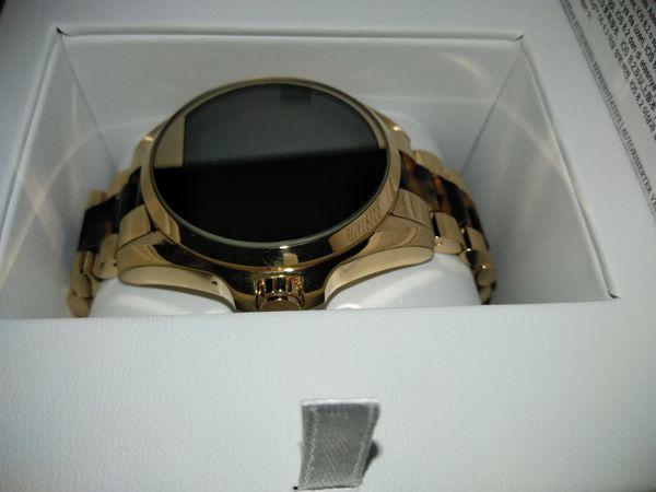 3d371747d17 Michael Kors Access Bradshaw Gold Tone and Acetate Smartwatch for ...