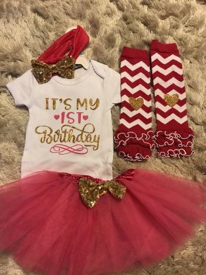 Birthday outfit baby girl for Sale in Laveen Village, AZ