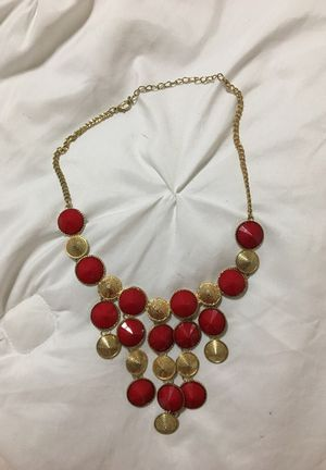 Red and gold necklace for Sale in Austin, TX