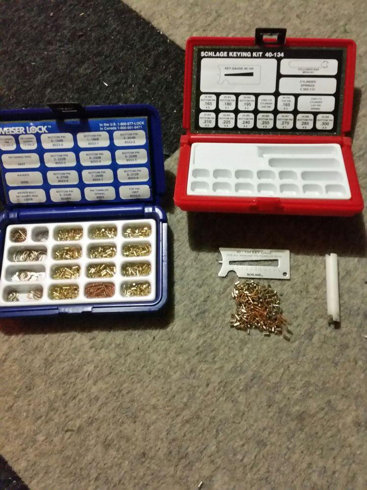 Weiser Lock 1418 Keying Kit + schlage Keying Kit 40-134