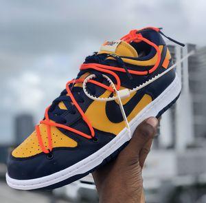 Photo Nike SB dunks low X off-White blue/yellow🔥size: 10
