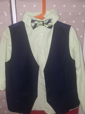 Gymnoree boy's Oxford long sleeves shirt+vest+Bowtie for Sale in West Covina, CA
