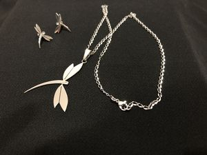 Stainless steel necklace and earrings for Sale in Boston, MA