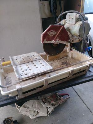 Photo Tile saw machine MK(missing water pump)