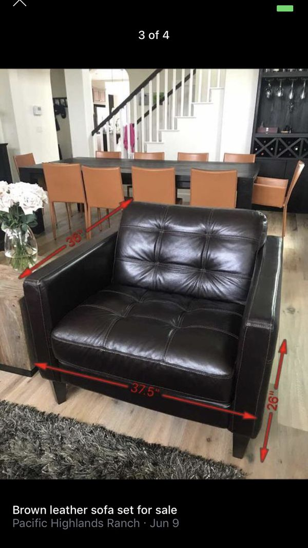 Brown Leather Living Room Set For Sale In San Diego Ca Offerup