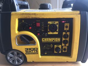 Generator Champion 3100 Watts portable inverter for Sale in West Los Angeles, CA