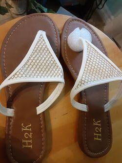 New white sandals Thumbnail
