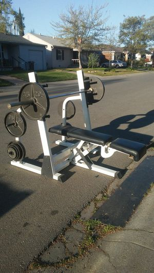 Photo Nautilus bench-Barbell-Weights