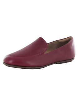 Fitflop Womens Lena Leather Slip On Loafer Shoes, Maroon, US 6.5 Thumbnail