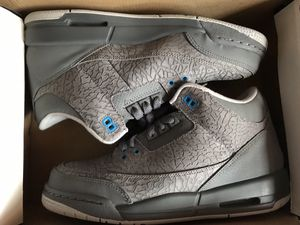 79405b1a6e6 Air Jordan Retro 3 Cool Grey Blue Flip Size 7 for Sale in Brooklyn, NY