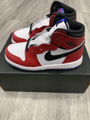 DS Nike Air Jordan Retro 1 OG High Spider Man Origin Story TD Toddler for Sale in Houston, TX