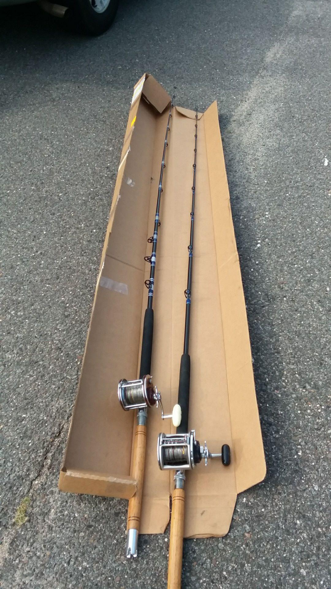 Custom made bunker spoons rods