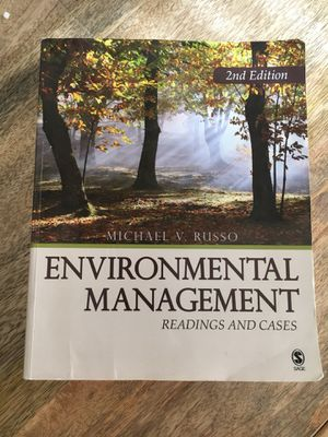 Environmental Management: Readings and Cases (2nd edition) for Sale in Manassas, VA