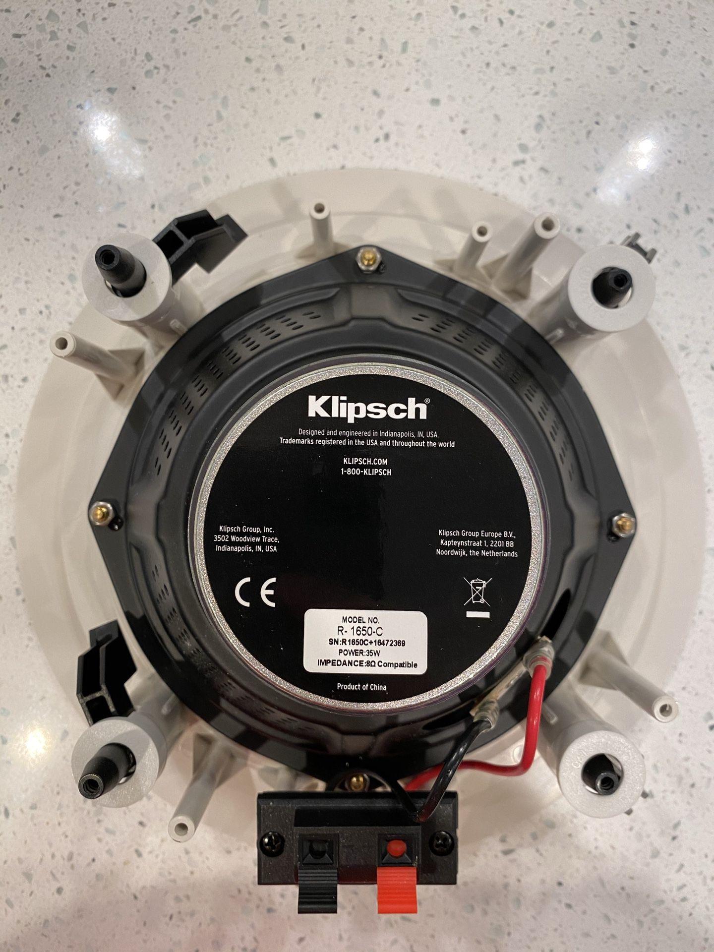 Klipsch R-1650-C In-Ceiling Speakers (1 Pair)