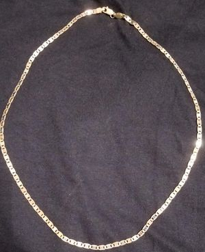 Photo Solid 14 k three gold chain