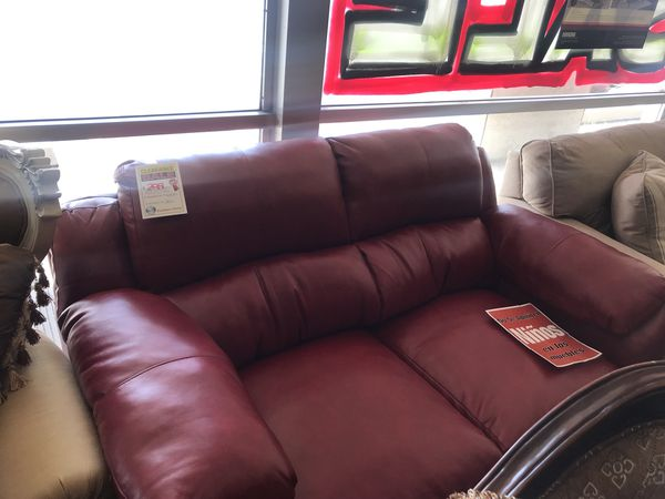 Red Bonded Leather Sofa Loveseat for Sale in Phoenix, AZ - OfferUp
