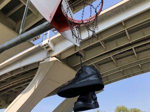"Air Jordan 1 Mid ""Triple Black/Blackout"" (Leather) for Sale in Alexandria, VA"