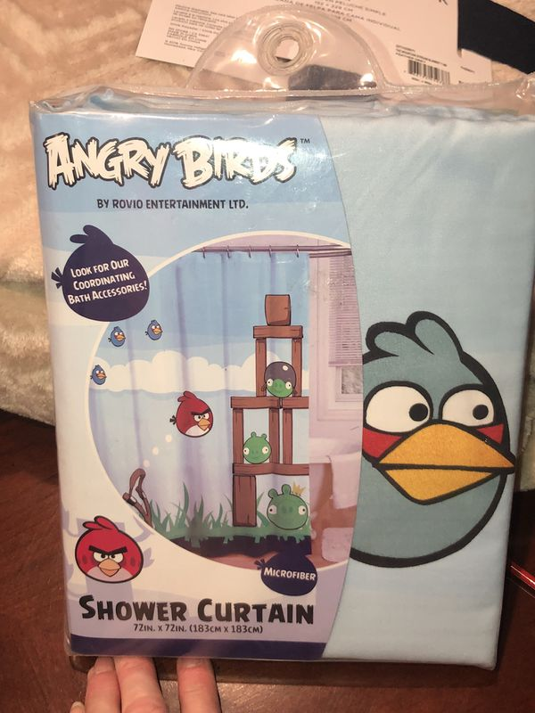 New Angry Birds Fabric Shower Curtain Household In Hemet CA