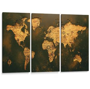 Vintage map canvas print Large (new) for Sale in Riverbank, CA