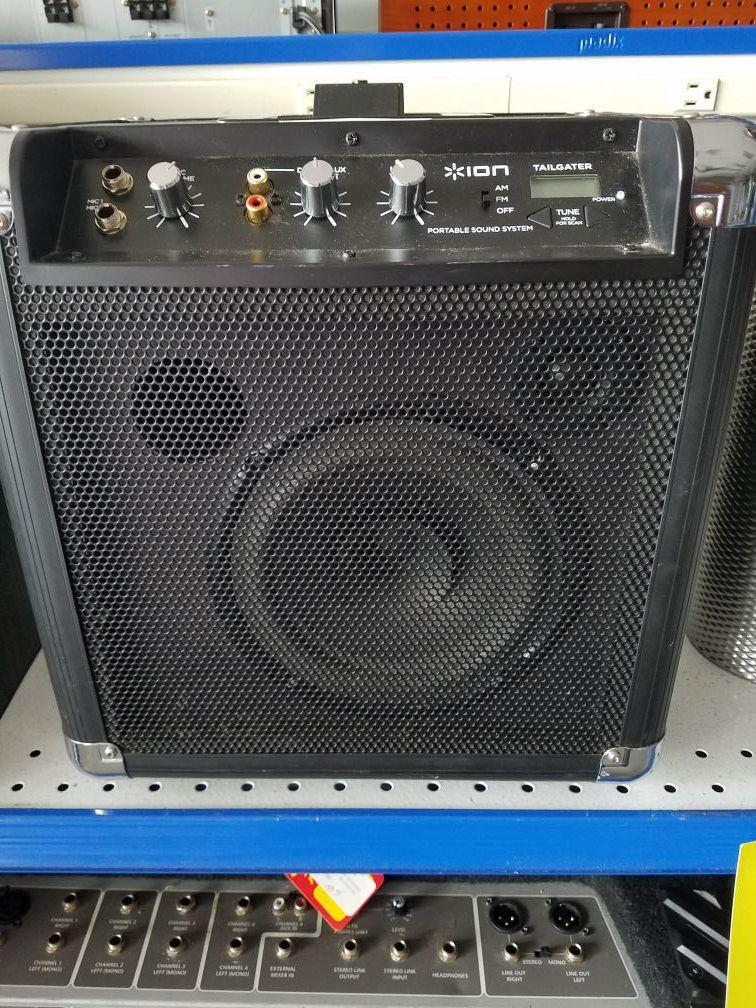 Ion portable speaker tailgater