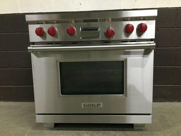 """Wolf DF364G - Professional Dual Fuel 36"""" Range Stove 4 Burners + Griddle for Sale in New York, NY - OfferUp"""
