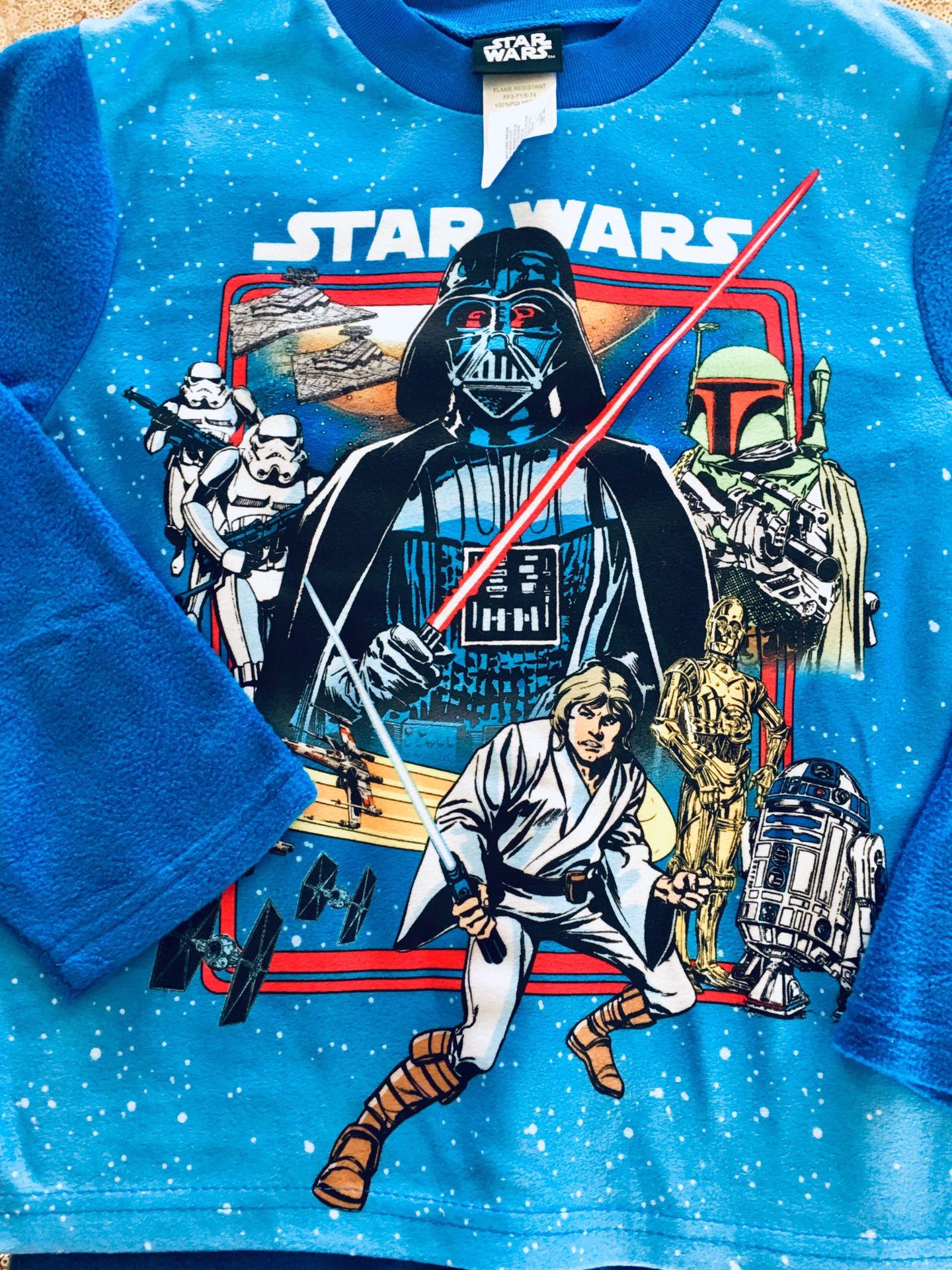 Star Wars Boys Pajama Set M 6/7 new