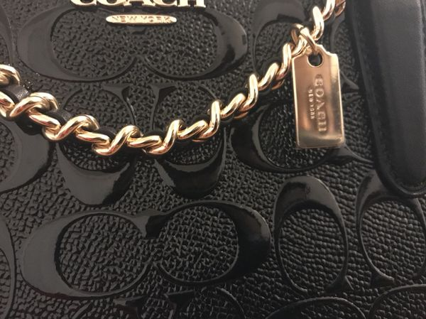 eda3286795c9 Brand New Coach Black Margon Leather Bag!! for Sale in Belmont