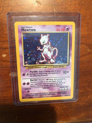 Pokémon Card Mewtwo for Sale in Herndon, VA