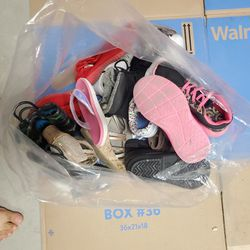 Bag Of Used Girl And Boy Shoes Thumbnail