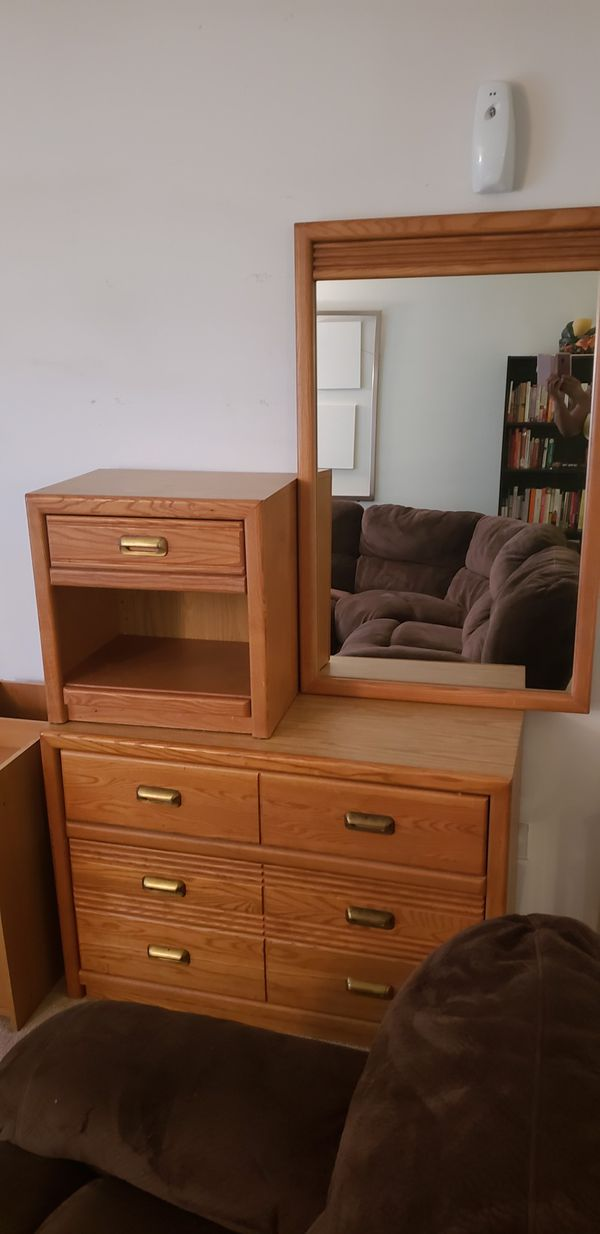 Stanley Furniture Dresser Mirror And Nightstand Set For Sale In