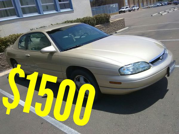 1999 Monte Carlo Sel Moving Drop Price Special Cars Trucks In San Go Ca Offerup