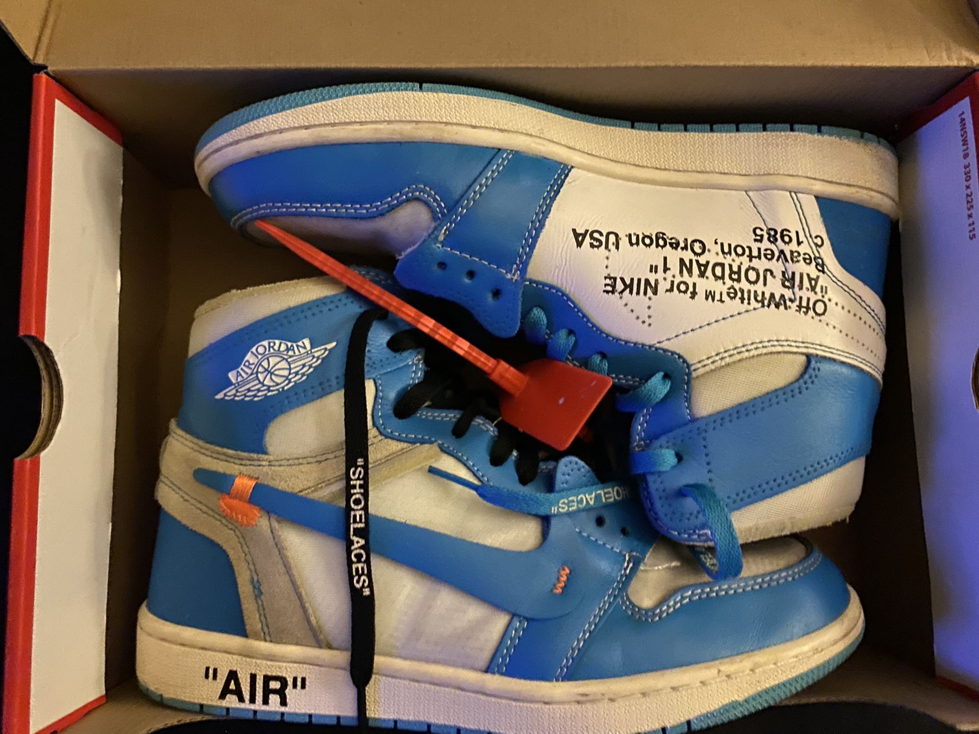 Unc Off White Jordan Ones