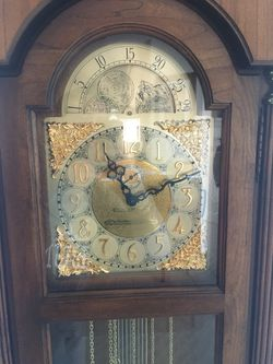 Howard Miller 1983 57th Anniversary grandfather clock model 610-277 Thumbnail