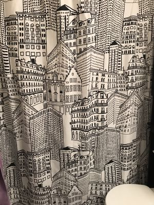 Black and White City Scape Fabric Shower Curtain for Sale in Washington, DC