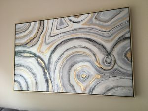 Art, Gray and Gold Wall Hanging for Sale in Alexandria, VA